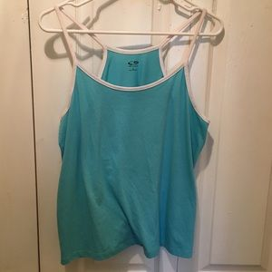 Large Champion Spaghetti Strap Athletic Tank Top